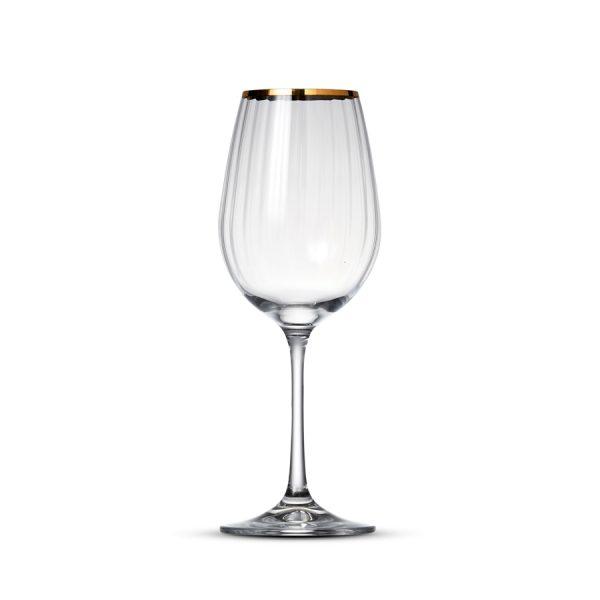 Wijnglas 35cl Romance Gold Rim - 6 st.