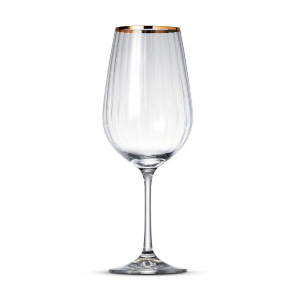 Wijnglas 55cl Romance Gold Rim - 6 st.