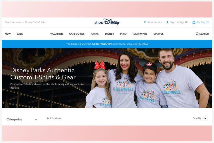 Disney met gepersonaliseerde merchandising