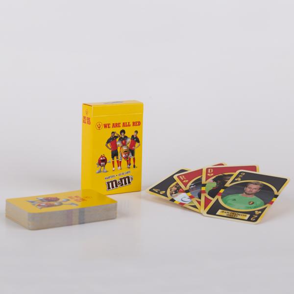 Promotionele speelkaarten met eigen voorkant