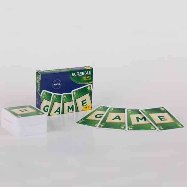 Promotioneel kaartspel – Scrabble Blast van Mattel