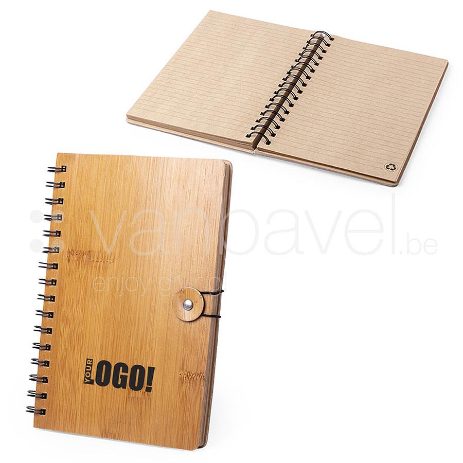Carnet de notes A5 avec couverture en bambou dur