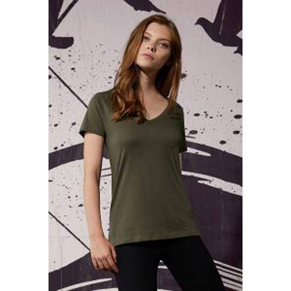 Ladies V-Neck T-Shirt B&C