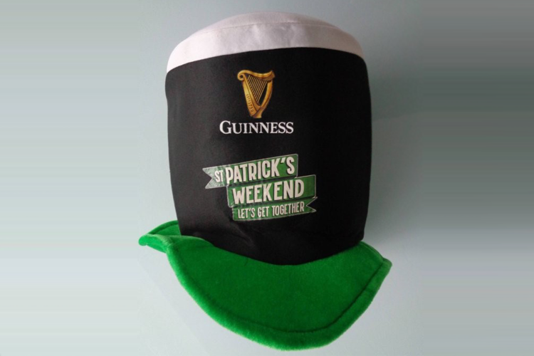 Sint Patrick's Day Guinness hoed