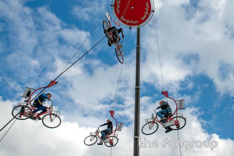 Sky-Bikes luchtfietsen als evenement