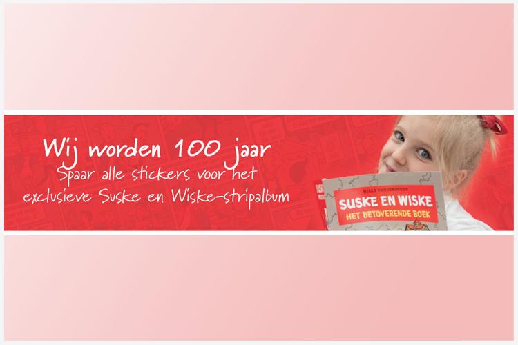 Standaard Boekhandel viert 100 jaar met spaaractie suske en wiske