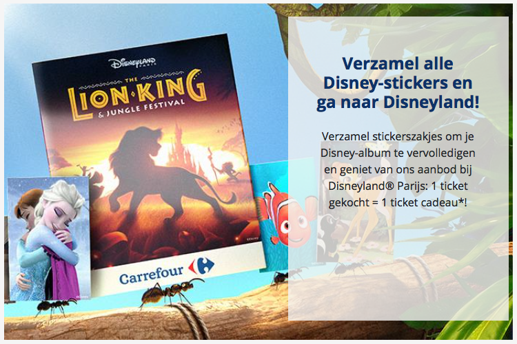 Carrefour start met grote duurzame Disney-spaaractie