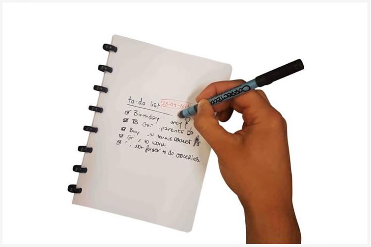 Correctbook whiteboard notitieboek met een goed doel