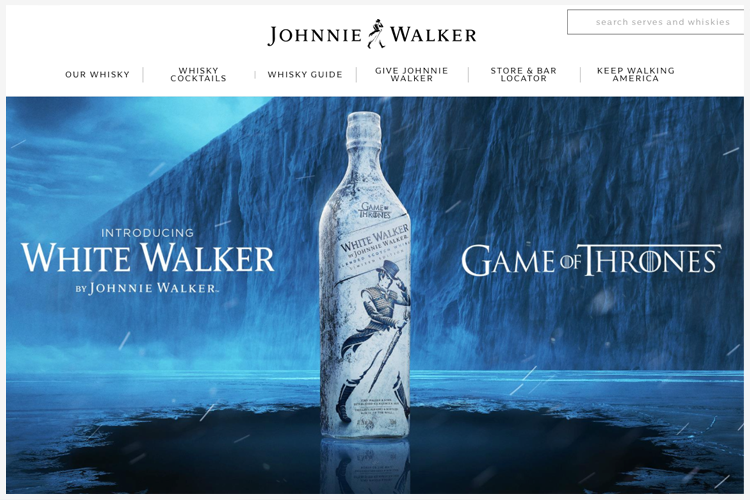 Game of Thrones Merchandising Johnie Walker
