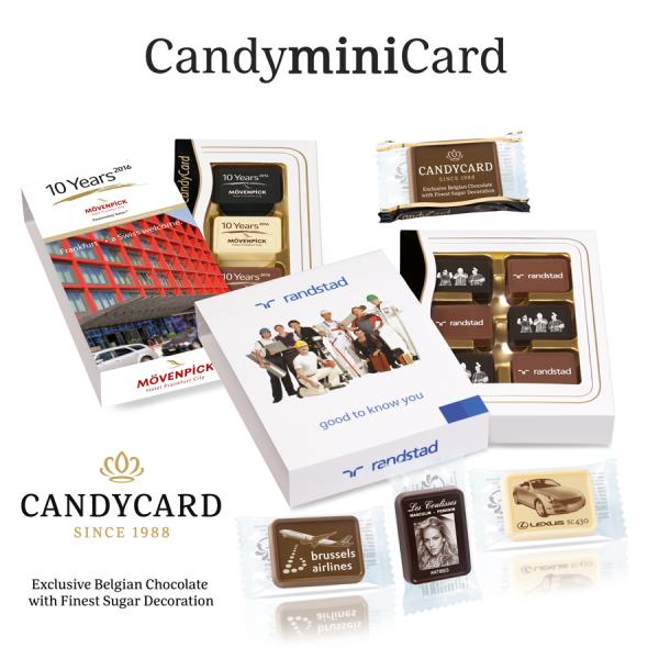 CandyminiCard_Reklame Chocolade met High Definition resolutie
