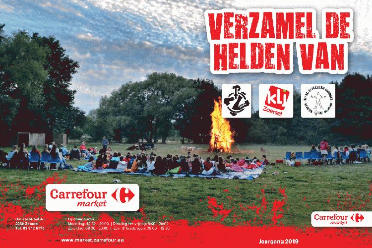 Carrefour Zoersel stickerboek voor lokale jeugdverenigingen