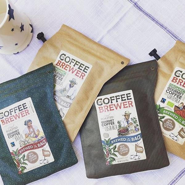 Koffie brewer met logo of boodschap
