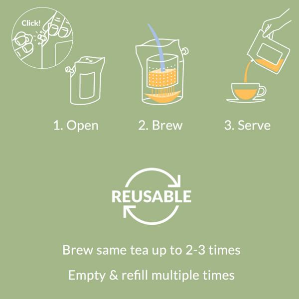 Koffie thee brewer met logo of boodschap
