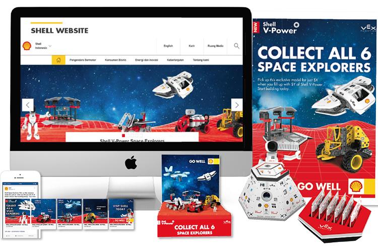 Shell space explorers merchandising