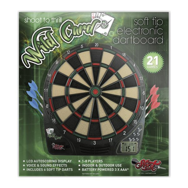 Shot Wildcard Softtip Electronic Dartboard