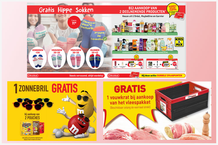 promowatch kruidvat, spar M&M, cora vlees 29-8-2019
