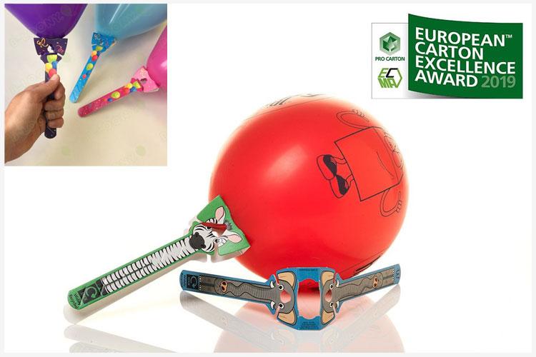 Ballonhouder in karton wint eco-prijs