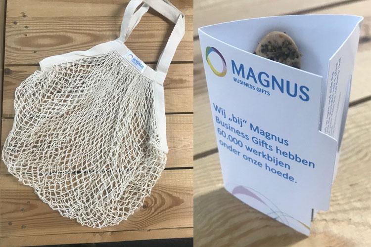 Week van het Werkgeluk Magnus levert tas voor goodiebag