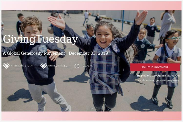 3 december: Global GivingTuesday