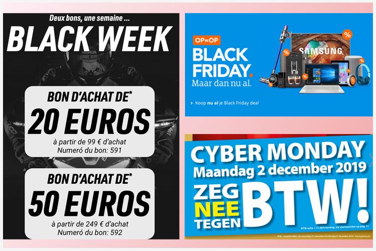 Black Friday en Cyber Monday solden voor de solden