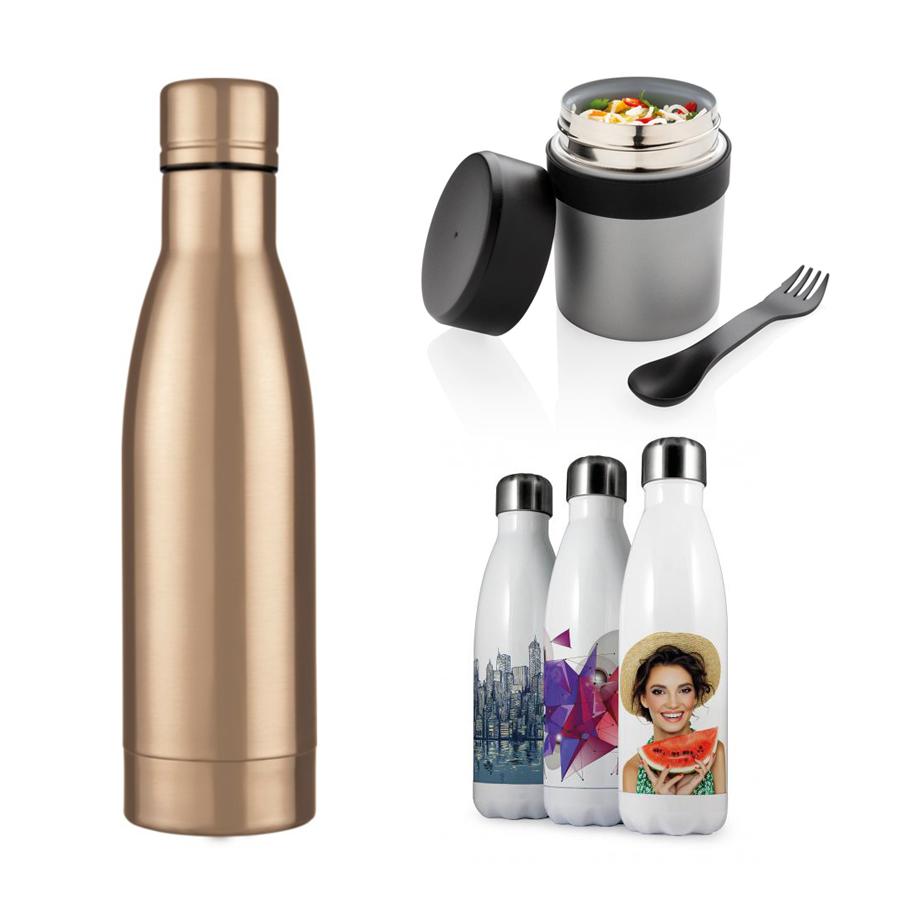 Metalen drinkfles & Voedselcontainer