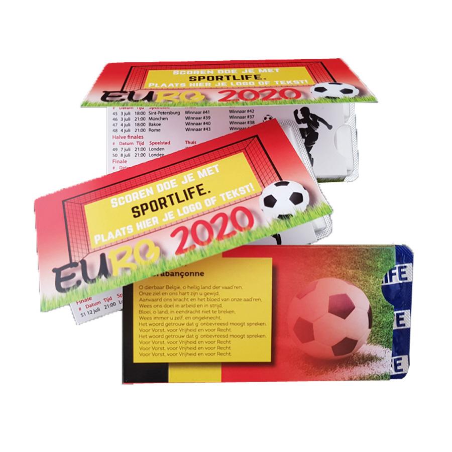 Sportlife Kauwgom met EK-schema
