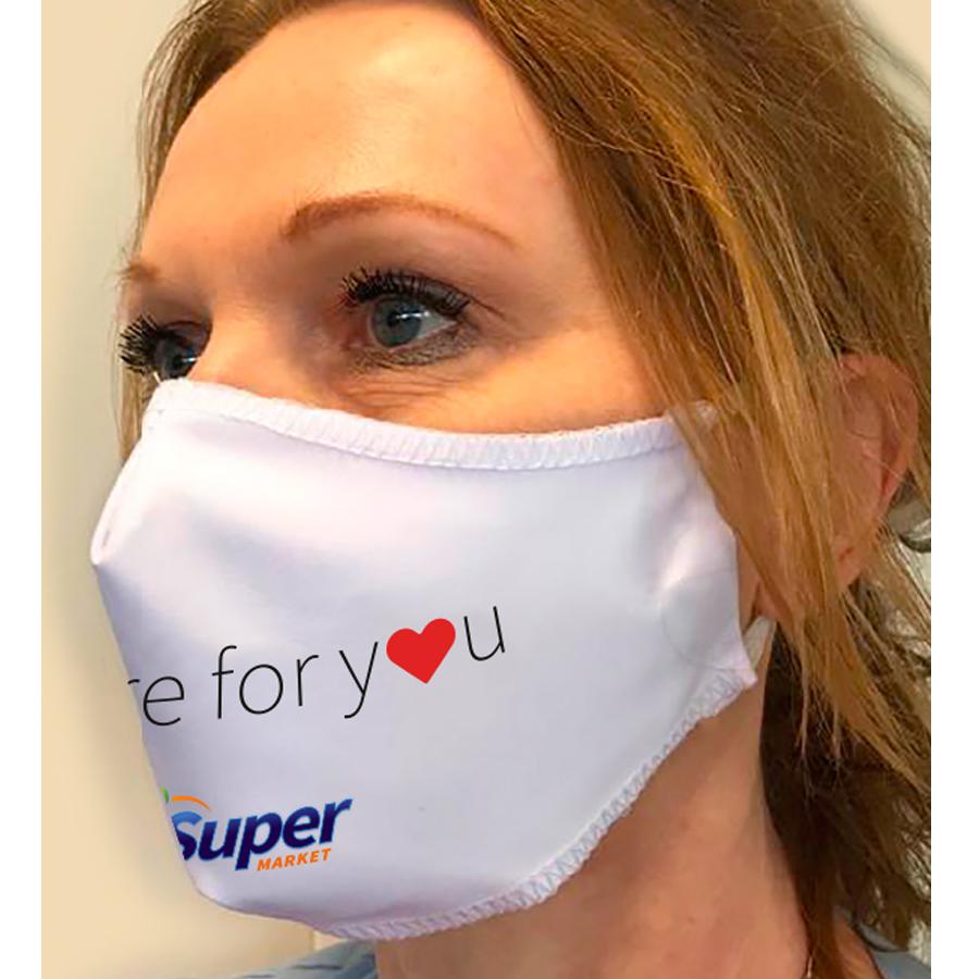 Herbruikbaar wasbaar mondmasker fullcolour bedrukt