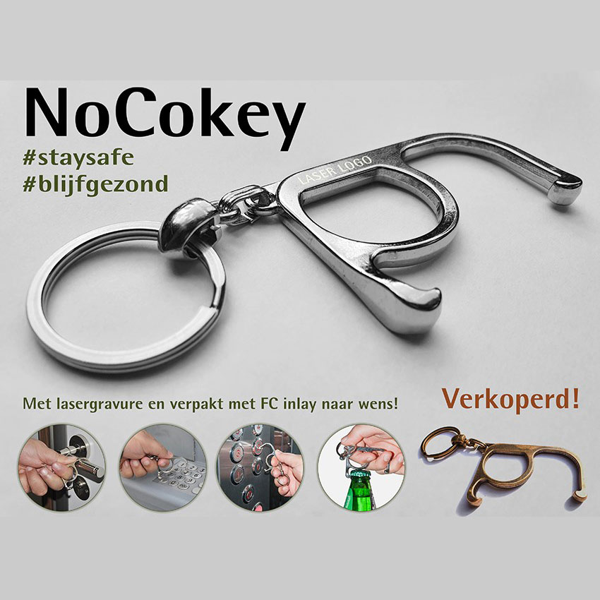 Sleutelhanger NoCokey met flesopener