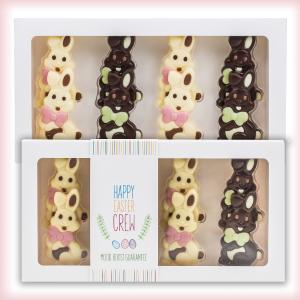 Paashaasjes van chocolade in doosje