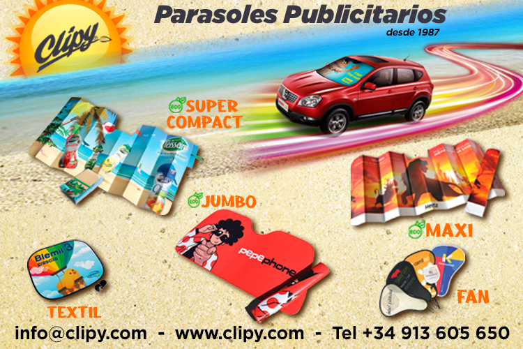 Clipycar - Compact Car Sunshade